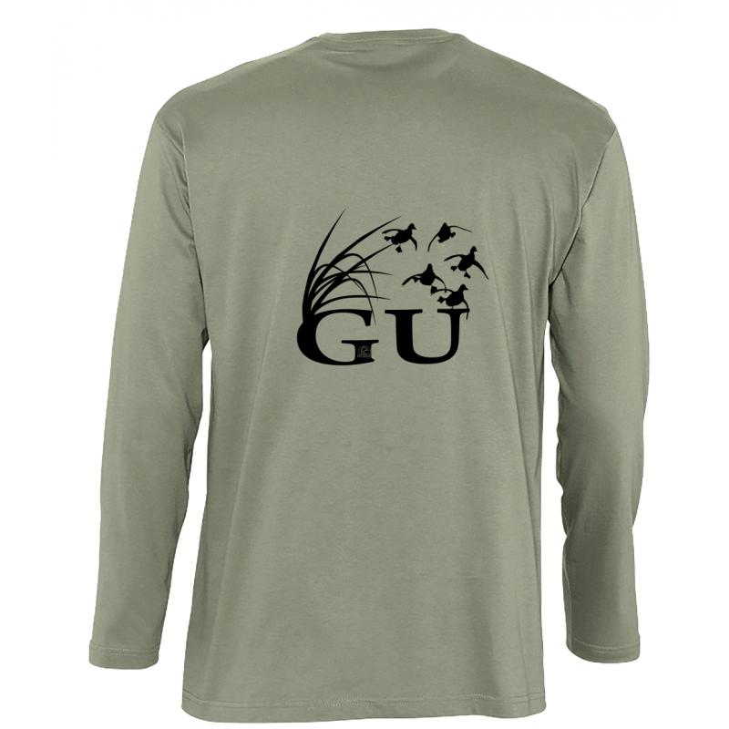 T-shirt manches longues pour la chasse du gibier d'eau