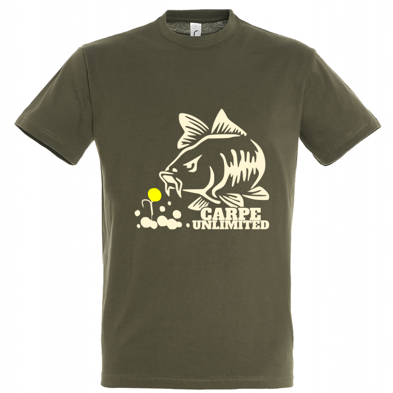 T-shirt de pêche Carpe Unlimited